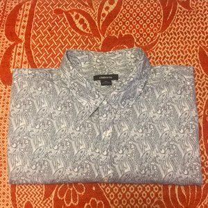 Claiborne Big and Tall Short Sleeve Button Shirt